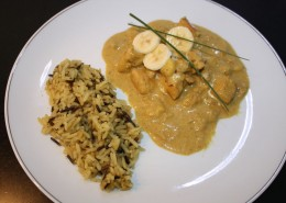 Poulet Curry Serviervorschlag
