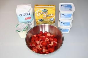 Zutaten Quarkcreme mit Erdbeeren
