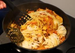 Poulet Curry Nudeln Zubereitung Schritt 6